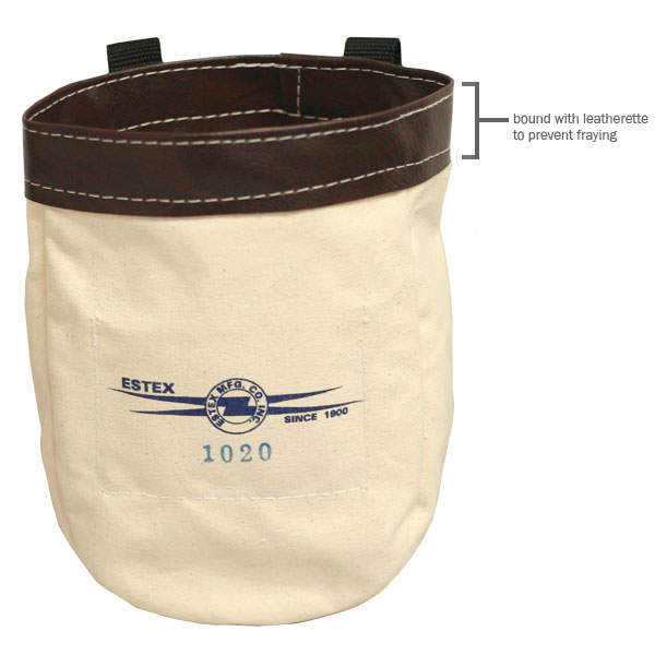 Nut  & Bolt Bag, Canvas w/Belt Loops