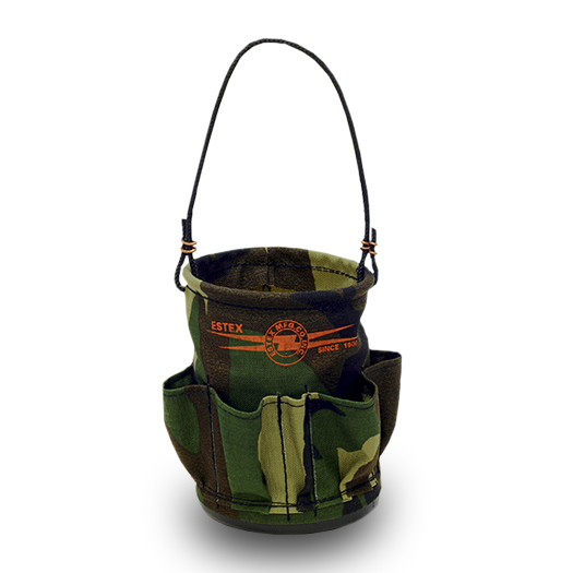 Miniature Tool Bucket W/Pockets, Forest Camo