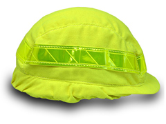 Fluorescent Hard Hat Cover, FR Modacrylic