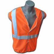 Class 2 Orange Non-FR Polyester Knit Mesh