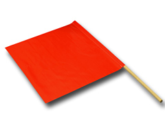 Vinyl Safety Flag / Dowel