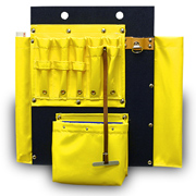Aerial Tool Board with Hook Holes, Made w/ 7-Vinyl Pockets