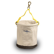 "Tool Bucket, 12"" x 15"" Leather Bottom W/Snap"