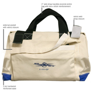 "Tool Bag 22"" W/#4 Canvas, 2 Outside Pockets & 7 Inside Pkts"