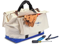 "Tool Bag 22"" W/#4 Canvas, 2 Outside Pockets"
