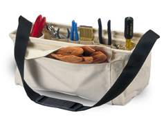 Tool Carrier Canvas W/IS & OS Pockets Plus Shoulder Strap