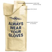 Canvas Glove Bag w/Hook & Loop